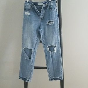 High waisted mom Jean's